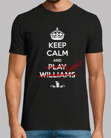 t-shirt keep calm blanc s / cadre