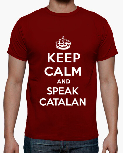 T-shirt keep calm di un catalano parlare