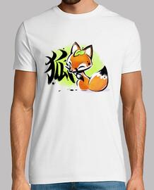 t-shirt kitsune kanji