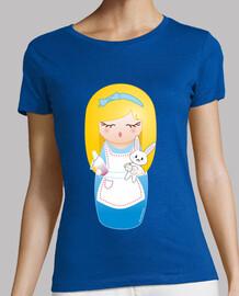 t-shirt kokeshi alice nel nazione del le paese delle meraviglie