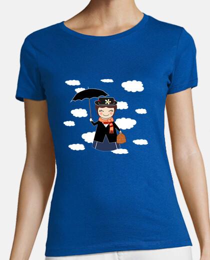 t-shirt kokeshi blue mary p.