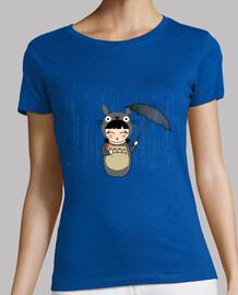 t-shirt kokeshi gray totoro