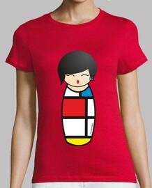 t-shirt kokeshi mondrian