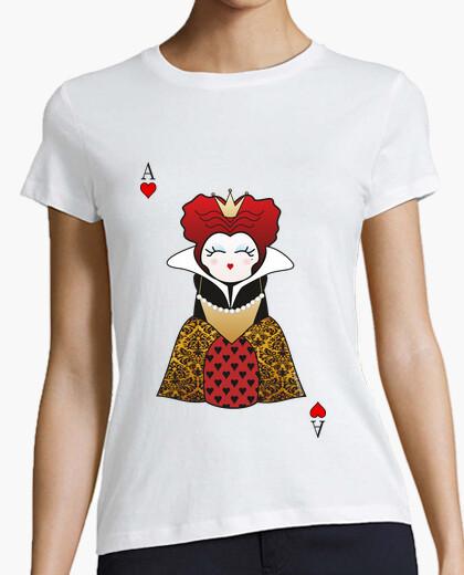 T-shirt kokeshi regina di cuori