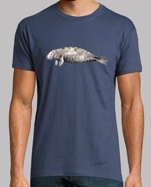 t-shirt lamantino (trichechus manatus)