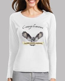 t-shirt lbp - donna, manica lunga, bianco