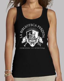 t-shirt lbp - donna, senza maniche, nera