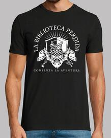 t-shirt lbp - uomo, stile retrò, nera e bianca