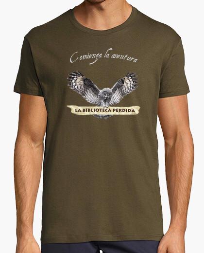 T-shirt lbp - uomo, stile retrò, cioccolato e cielo blu
