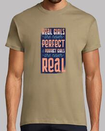 t-shirt le vere ragazze non sono perfetti