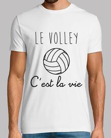 T-shirt Le volley c'est la vie , Tee shirt volleyball