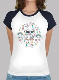 t-shirt licorne avec la phrase envoyer tout à la corne et vivre votre fantaisie