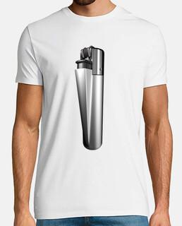 t-shirt lighter white silver