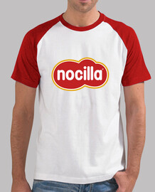 t-shirt logo nocilla rosse sleeves
