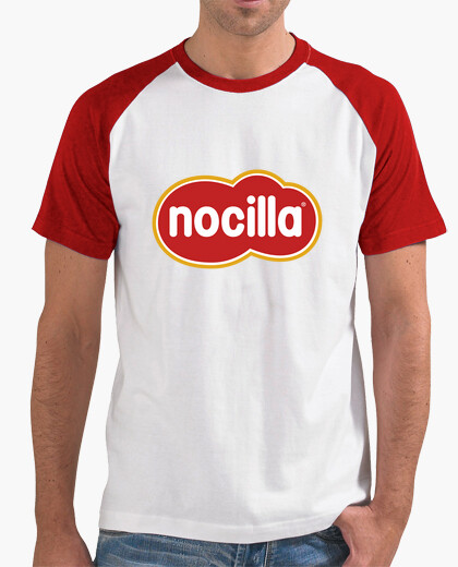 T-shirt logo nocilla rosse sleeves