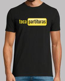 t-shirt logo tocapartituras ragazzo nero, manica corta, qualità extra