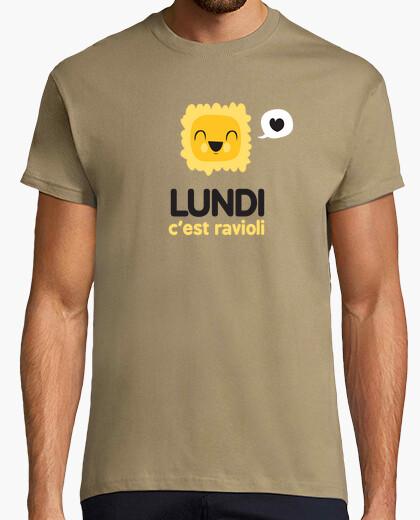 T-shirt lunedi questo è ravioli