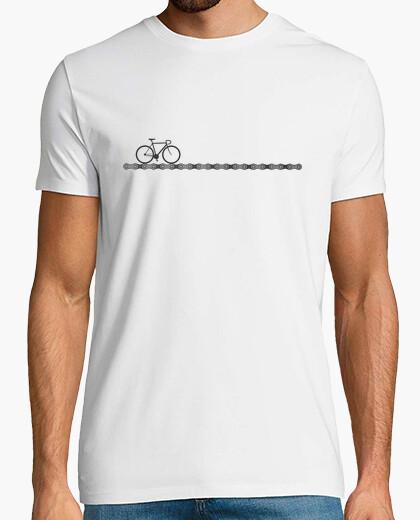 T-shirt maglia da ciclismo con bici e catena