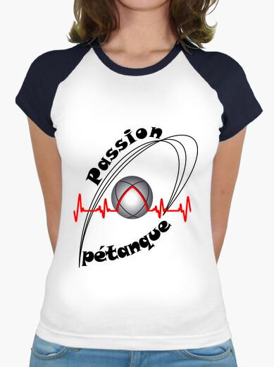 T-shirt maglietta passione petanque donna fc elettrocardiogramma