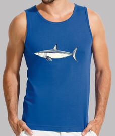 t-shirt mako squalo - uomo, senza maniche, blu royal