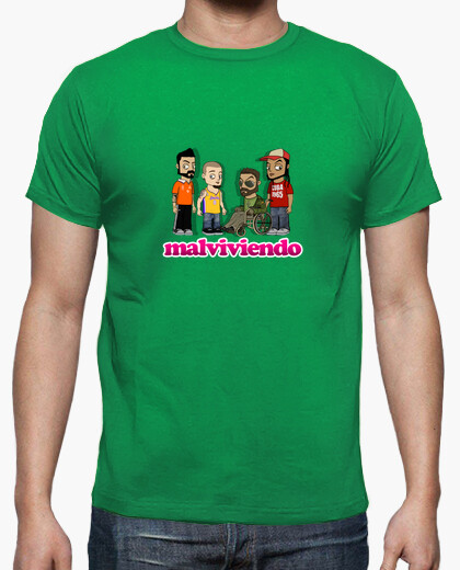 T-shirt malviviendo- personaggi animati