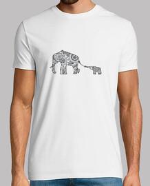 t-shirt mamma e figlio, l'uomo