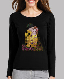 t-shirt manga black long style kokeshi kiss klimt