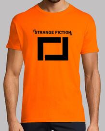 t-shirt manga short guy orange / black colored logo