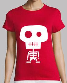 t-shirt manica corta scheletro ragazza vari colori