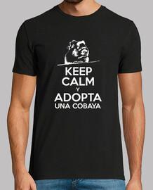 t-shirt manica corta uomo keep calm e prende una cobaya