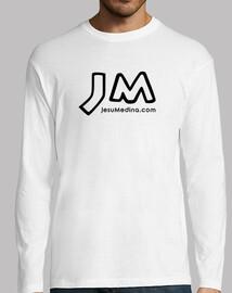t-shirt manica lunga jesu medina - logo nero