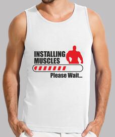 t-shirt mann bodybuilding - installation von muskeln