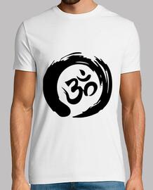 t-shirt mantra nero zen om (uomo)