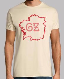 t-shirt mappa galiza amarela / vermella - home