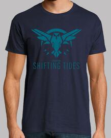 t-shirt marées bleu foncé