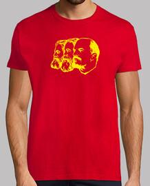 t-shirt marx engels lenin yellow