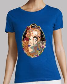t-shirt maternità klimt stile kokeshi