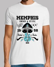 t-shirt memphis rockabilly des années 1950