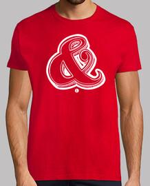 t-shirt men - ampersand