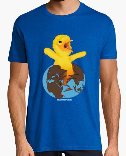 T-shirt mondo di pollo