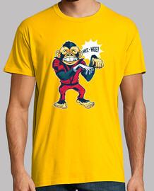 t-shirt monkey dancing