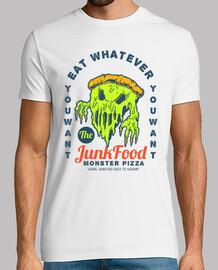 t-shirt monstre pizza nourriture idée cadeau drôle