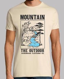 t-shirt montagna natura avventure campagna vintage campeggio campeggio vintage