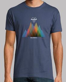 t-shirt montagna uomo