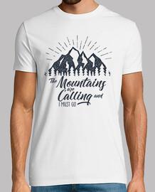 t-shirt montagne vintage stile vintage