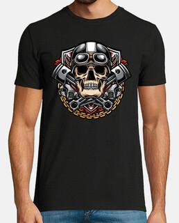 t-shirt motard skull moto custom calaveras rockers bikers ride till die