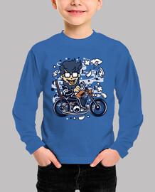 t-shirt moto chopper cartoni animati hipster