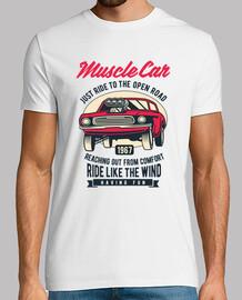t-shirt muscolare auto vintage vintage 1967