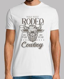t-shirt musique rétro pays cow-boy rodéo far west