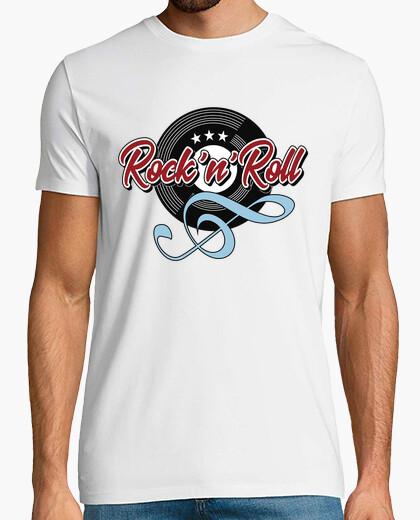Tee-shirt t-shirt musique rock n roll touche de vinyle soleil